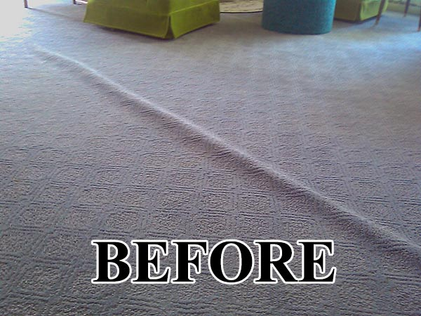 carpet ripple restretching repair before